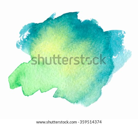 green yellow blue watercolor