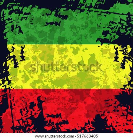 green  yellow  red rasta flag