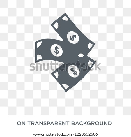 Greenback icon. Trendy flat vector Greenback icon on transparent background from Business  collection.
