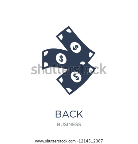 Greenback icon. Trendy flat vector Greenback icon on white background from Business collection, vector illustration can be use for web and mobile, eps10