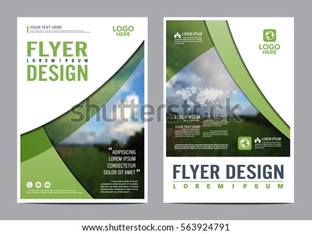 Abstract Geometric Shapes Company Flyer Brochure Poster Design - Design brochure templates