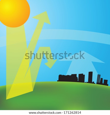 greenhouse effect vector illustration Global warming