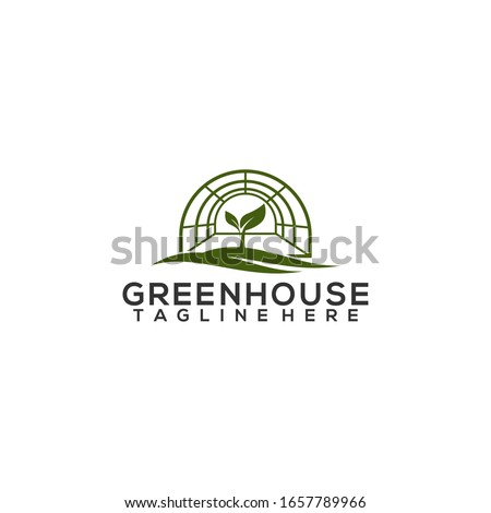 Greenhouse Leaf Logo Template Vector Stock photo ©