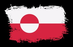 Greenland Country Flag Splash Free Vector Illustration