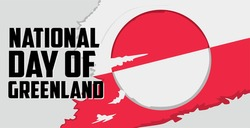 greenland flag with the words National Day of Greenland
