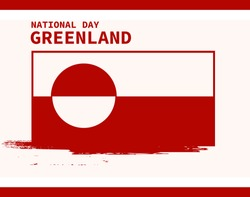 Greenland national day background with Greenland brush flag background GOOD LOOK FOR YOUR POSTER, AND ETC.