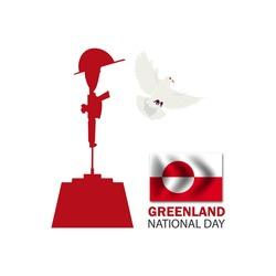 Greenland national day ,Vector Illustration.