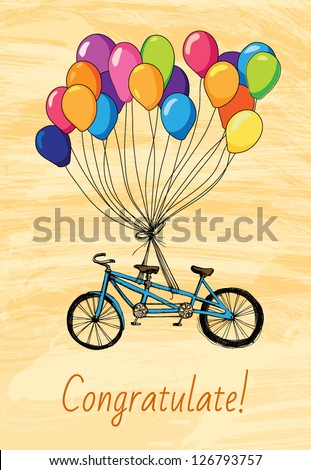 Greeteng Card with bicycle