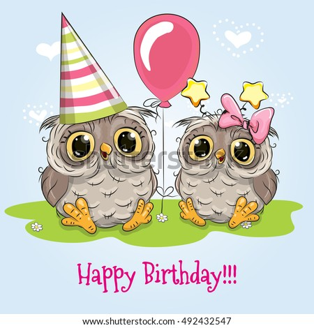 greeting birthday card with two