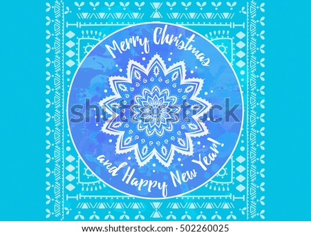 Islamic new year greeting in vintage style download free vector greeting blue card happy new year and merry christmas mandala snowflake arabic and indian m4hsunfo