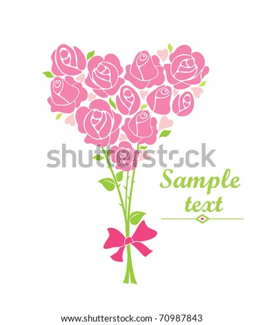 Greeting bouquet with rose