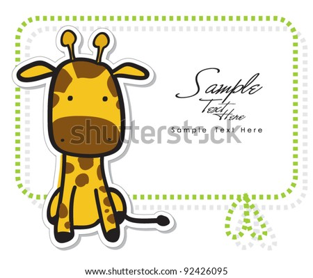 Greeting Card baby giraffe