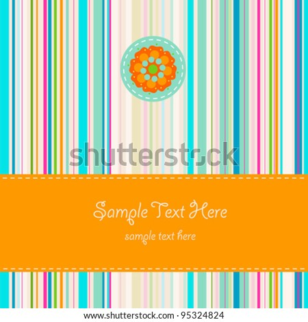 greeting card background with flower
