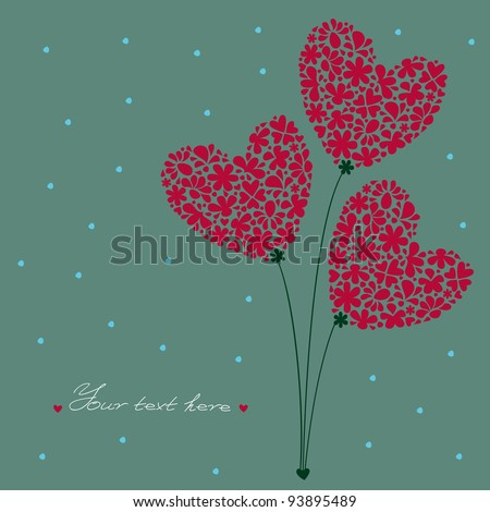 greeting card bouquet of