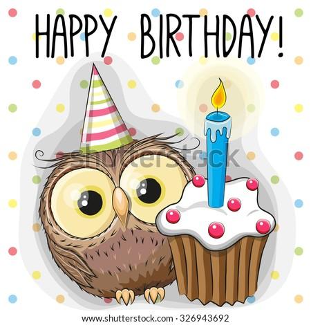 greeting card cute cartoon owl
