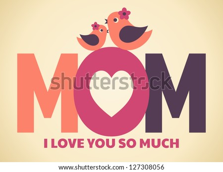 Mothers Day Greeting Card With Flower Download Free Vector Art