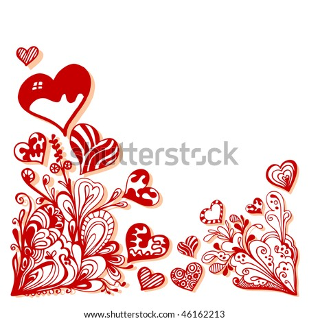 Greeting Card Design For Valentine'S Day Stock Vector 4