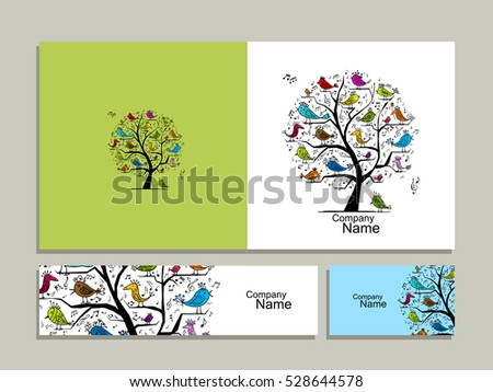 greeting card design  tree with
