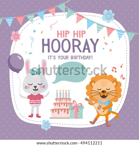 Royalty Free Stock Photos And Images Greeting Card Design With Cute
