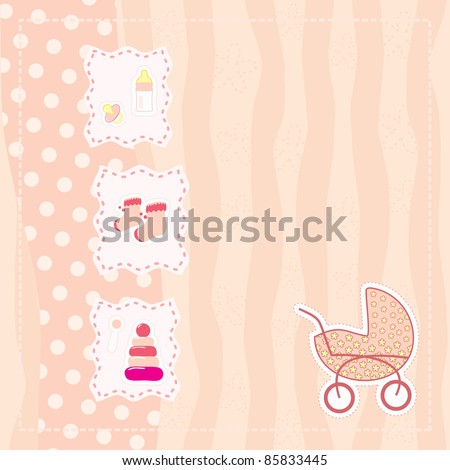 greeting card for baby girl