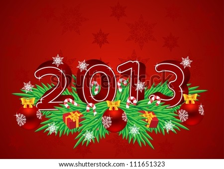 Greeting card for Christmas and New Year