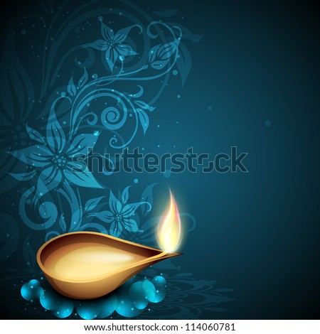 Greeting card for Diwali celebration in India EPS 10
