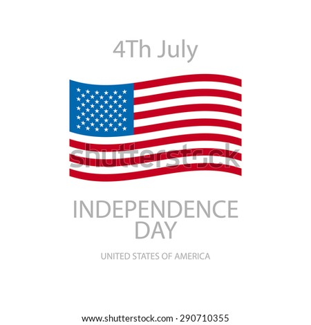 Greeting card for fourth of july holiday. EPS 10 contains transparency art
