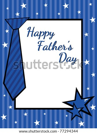 greeting card for happy father's day celebration