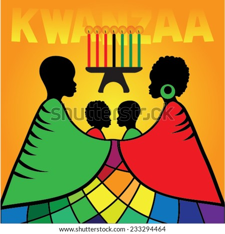 Kwanzaa illustration greetings vector download free vector art greeting card for kwanzaa with silhouette of couple of africans vector illustration happy kwanzaa m4hsunfo