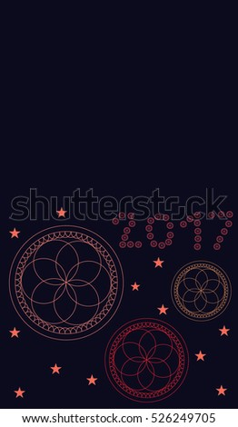 greeting card for new year with colorful eternal flower on blue background
