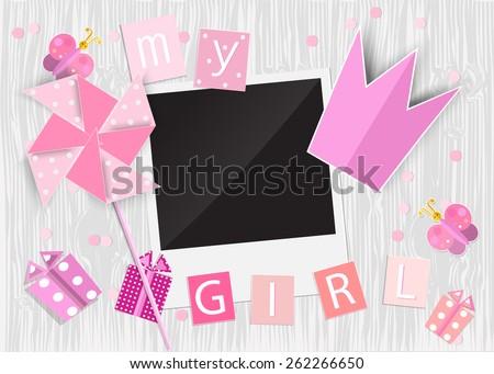 greeting card for princess girl