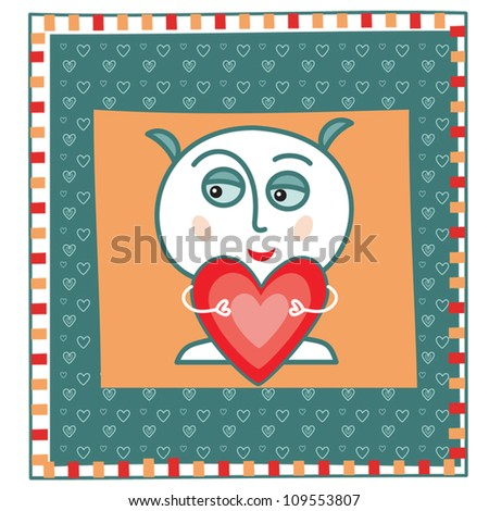 "Greeting card ""I love you"""