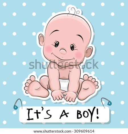 greeting card it's a boy with