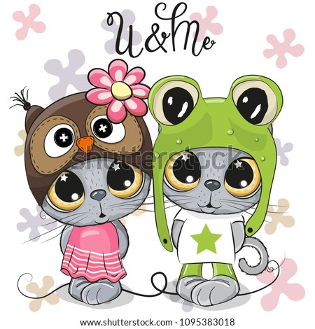 greeting card kittens boy and