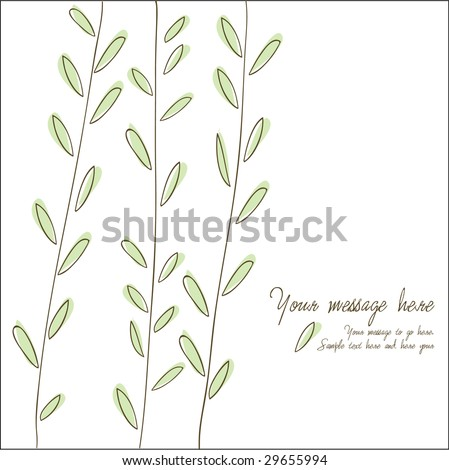stock vector Greeting Card or Invitation wedding or party with vine