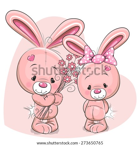 greeting card rabbit boy gives