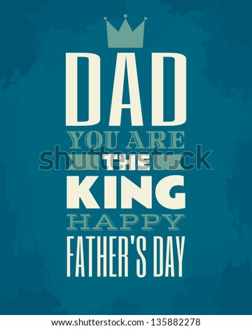 Greeting card template for Father\'s Day.