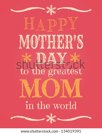 Greeting card template for Mother\'s Day.