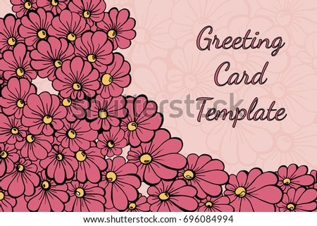 Flower Card Vector Templates - Download Free Vector Art, Stock ...