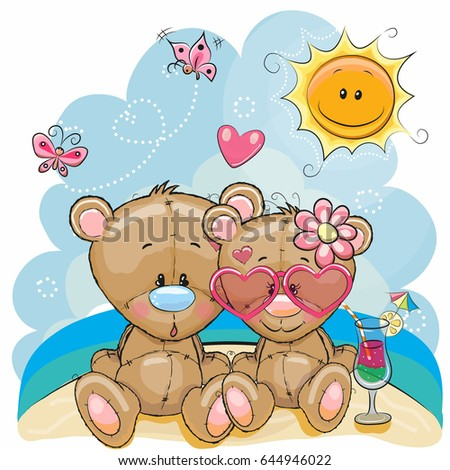 greeting card two bears in a