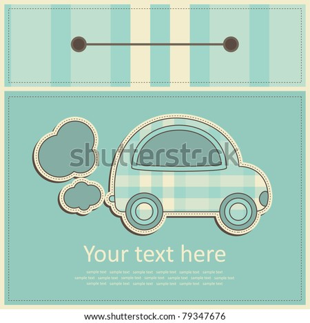 greeting card. vector illustration - stock vector