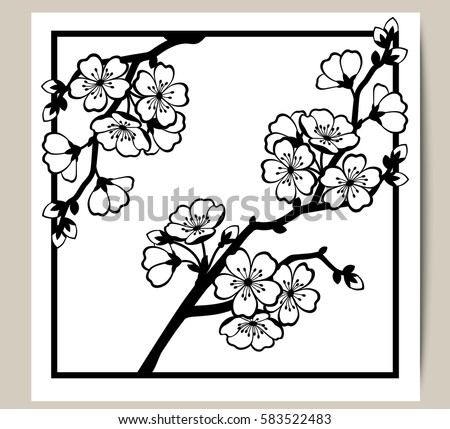 greeting card with a branch of