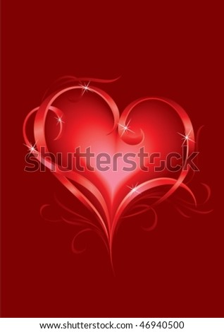 Greeting card with abstract Hearts