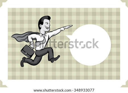 greeting card with businessman