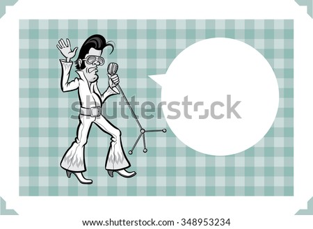 greeting card with cartoon rock