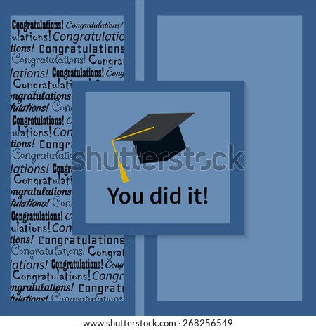 Greeting Card With Congratulations Graduate Completion of Studies