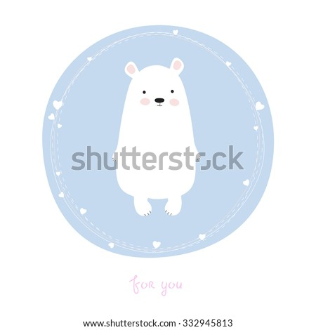 greeting card with cute bear