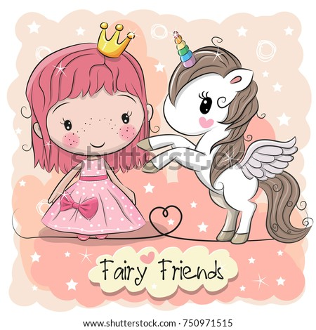 greeting card with cute cartoon