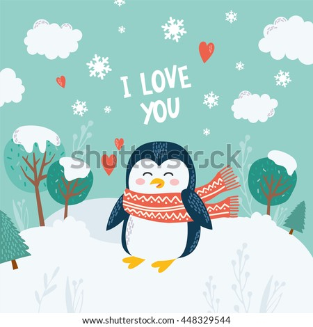 greeting card with cute happy