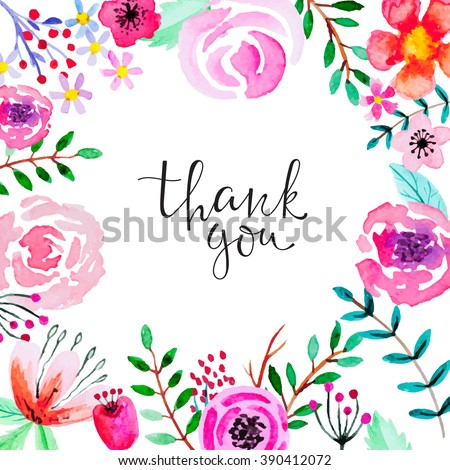 20+ Thank You Card Template Vectors | Download Free Vector Art ...